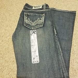 Women's Rock and Roll cowgirl jeans 33X36